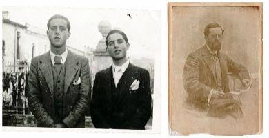 Germans Àngel i Josep Piquer Pellicer i el seu pare, Lluís